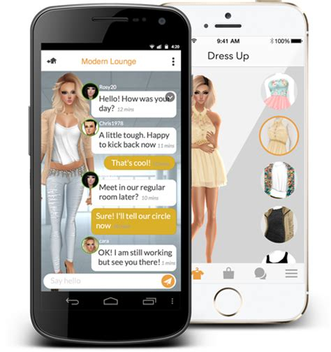 imvu mobile app for android imvu mobile ios android