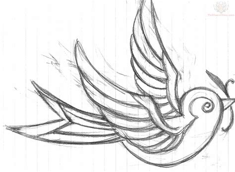 outline bird tattoo designs simple outline design
