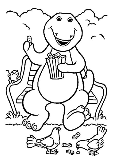 barney coloring pages for toddlers barney coloring pages for printable free barney