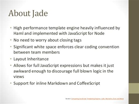jade template engine after the l it s time to get