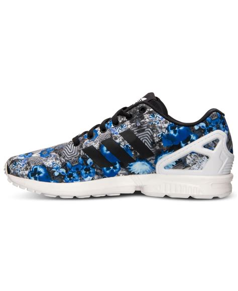 adidas sneakers for lyst adidas originals s zx flux floral print running