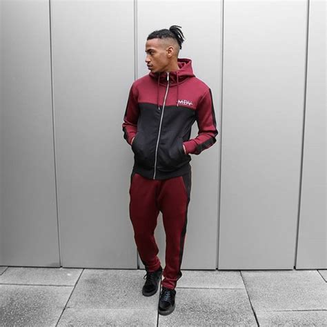7ldress Adidas mdv neoprene panel track jacket oxblood black