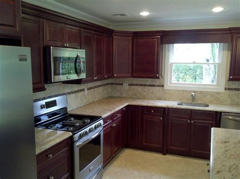Cherry Kitchen Cabinets Cherry Kitchen Cabinets Cherry Glaze Door Style Kitchen Cabinet Traditional