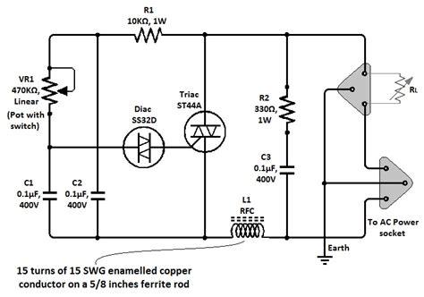 triac diagram simple triac dimmer circuit diagram