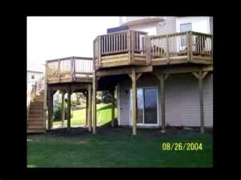 House Plans Walkout Basement two story double deck youtube