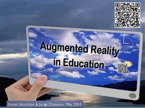 Augmented Reality In Education Augmented Reality Ppt Template