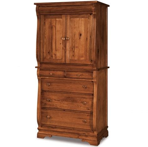 2 piece armoire eclectic 2 piece armoire with 5 drawers amish solid wood
