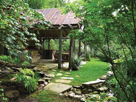 rustic outdoor kitchen pavilion hgtv