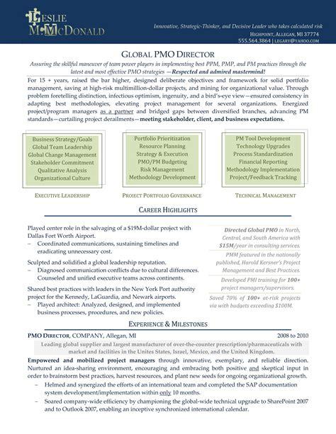 Executive Resume   Resume Cv Template Examples
