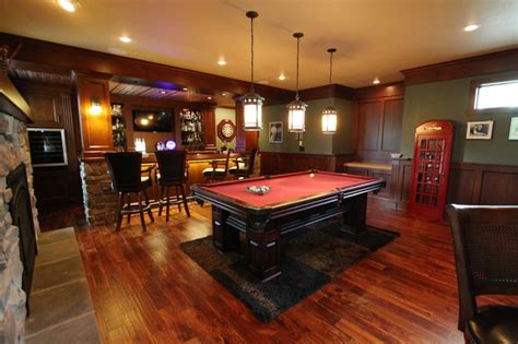 Home Bars Basement by Irish Pub Addition Traditional Family Room Other