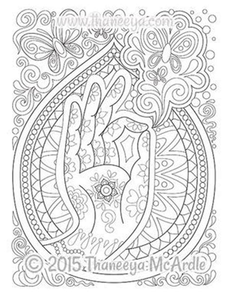 follow your bliss coloring page by thaneeya mcardle