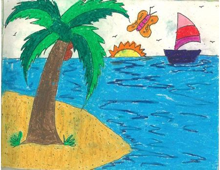 Drawing 1 Class by Scenery Drawing For Class 1 At Getdrawings Free For