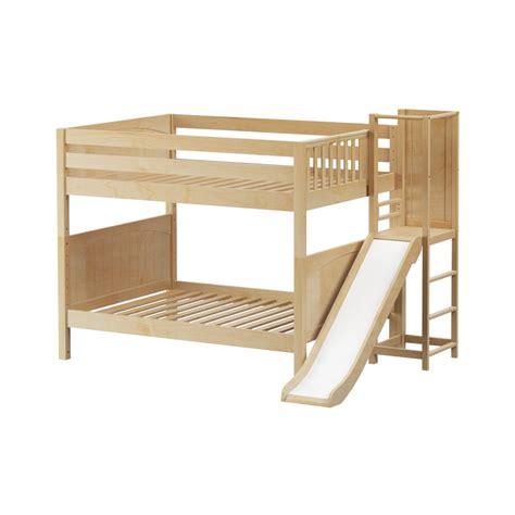 Maxtrixkids Domain Np Medium Full Bunk Bed With Slide Bunk Bed Platform