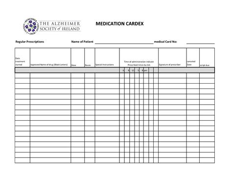 Medication Record Template by 10 Best Images Of Medication Administration Record