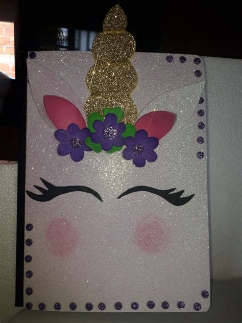 cuadernos decorados de unicornio con foami pin de maria guerrero en fomy figuras pinterest
