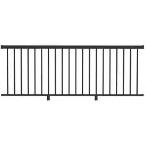 Shop freedom versarail 36 in black aluminum porch railing kit at lowes