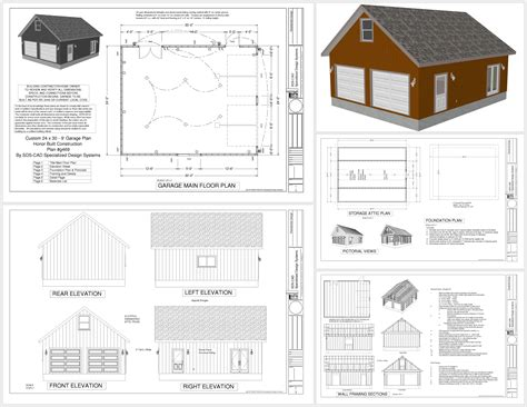 Photo 20 X 40 Shed Plans Images Cabin Floor Plans 20x24 24x30 House Plans