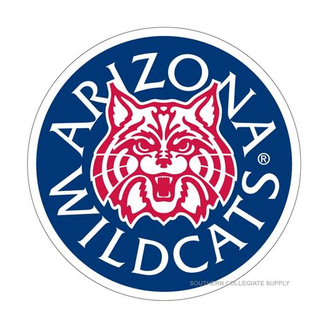 university of arizona fan gear university of arizona wildcats round logo decals