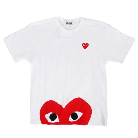 Tshirt Kaos Play Cdg 3 new arrival comme des garcons play union los angeles