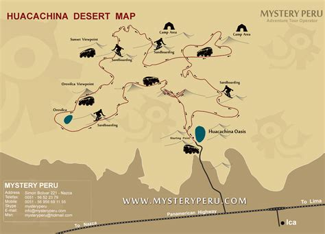 oasis map oasis huacachina peru map