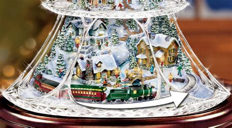 thomas kinkade tabletop trees christmas wreaths