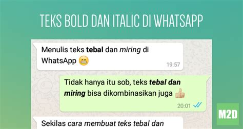 cara membuat huruf tebal di whatsapp cara membuat teks tebal miring dan coret di whatsapp
