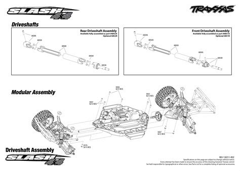 traxxas slash 4x4 parts diagram traxxas 1 10 scale slash 4x4 brushless course truck