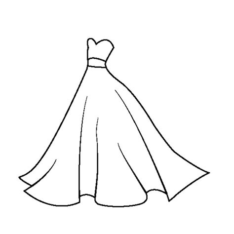 imagenes para colorear vestido dibujos para colorear vestido de novia imprimible gratis