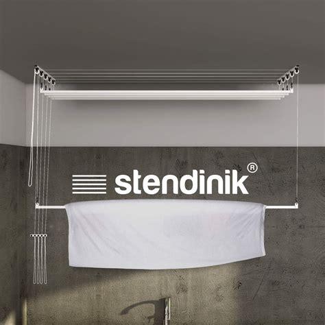 stendibiancheria a soffitto saliscendi stendibiancheria da soffitto 5 aste da 180 cm stendinik