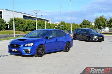 subaru ford head to head subaru wrx sti vs ford focus rs review