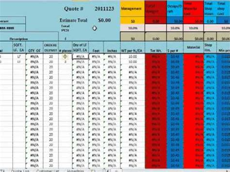 Structural Steel Takeoff Spreadsheet Onlyagame Excel Takeoff Template