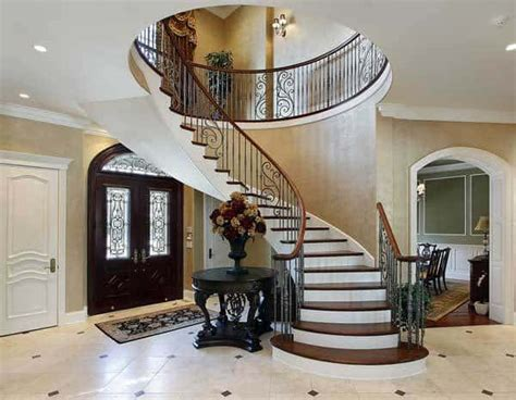 interior trim elegant staircases entryways home tips  women