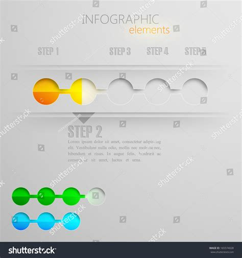How To Make A 3d Timeline On Paper - vector set abstract 3d paper infographic stock vector