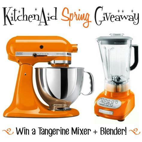 Kitchenaid Blender Thailand Kitchen Aid Tangerine Mixer And Blender Giveaway Chef