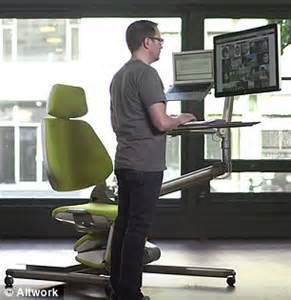 altwork station lets you sit stand and even lie