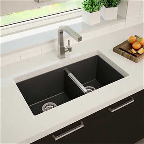 atlantis black granite 60 40 sink