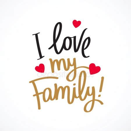 love  family fashionable calligraphy stock vector  chekat