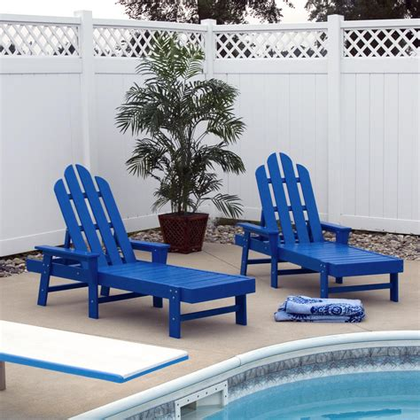 outdoor plastic pool chairs polywood 174 island recycled plastic chaise lounge