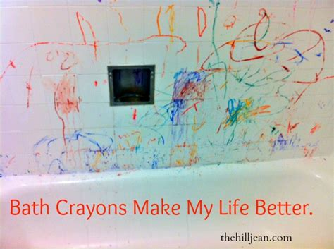 bathtub crayons chaos or joy