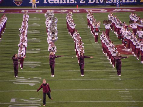the marching chiefs of florida state the band that never lost a halftime show books file florida state marching band 2010 jpg wikimedia commons