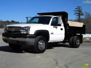 Chevrolet Dump Truck Summit White 2003 Chevrolet Silverado 3500 Regular Cab 4x4