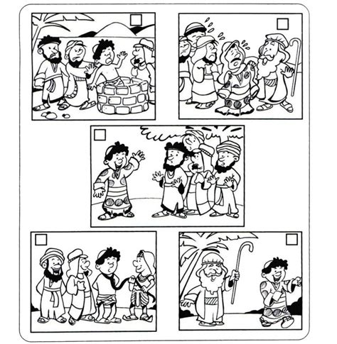 coloring pictures of joseph from the bible joseph in jail coloring sheet sketch coloring page