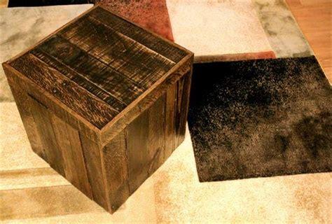 Diy Storage Ottoman Cube Diy Pallet Storage Cube Ottoman 101 Pallets