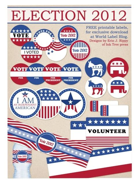 printable voting stickers 11 election day activities for kids tip junkie