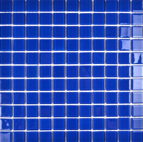 blue mosaic tile glass pool tile
