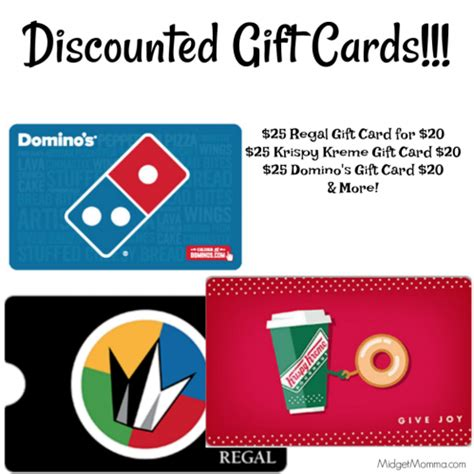 Where Can I Buy Regal Gift Cards - discounted gift cards dominos krispy kreme regal more midgetmomma