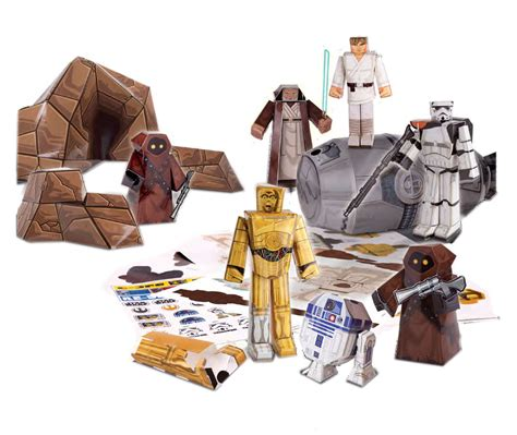 Papercraft Sets - wars set papercraft escape pod desert pack