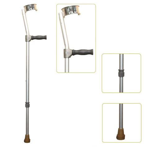 How To Make Crutches Comfortable by Height Adjustable Lightweight Walking Forearm Crutch With