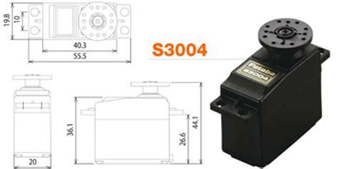 Servo Parallax Standard servomoteur standard s3004 futaba robotshop