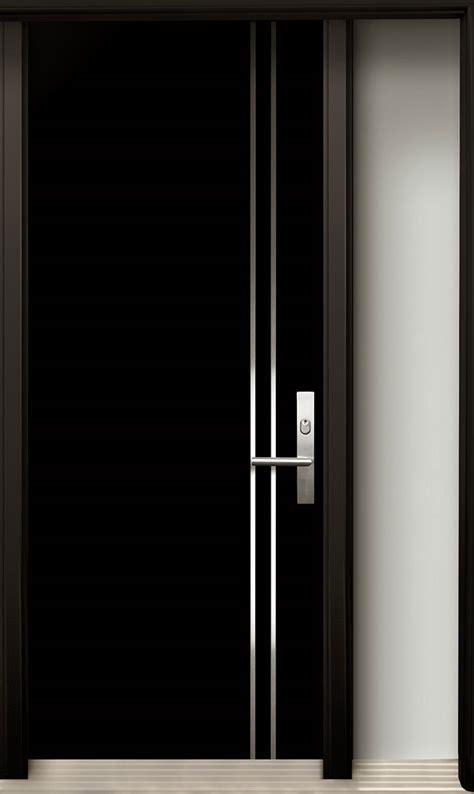 modern wood door  stainless steel design